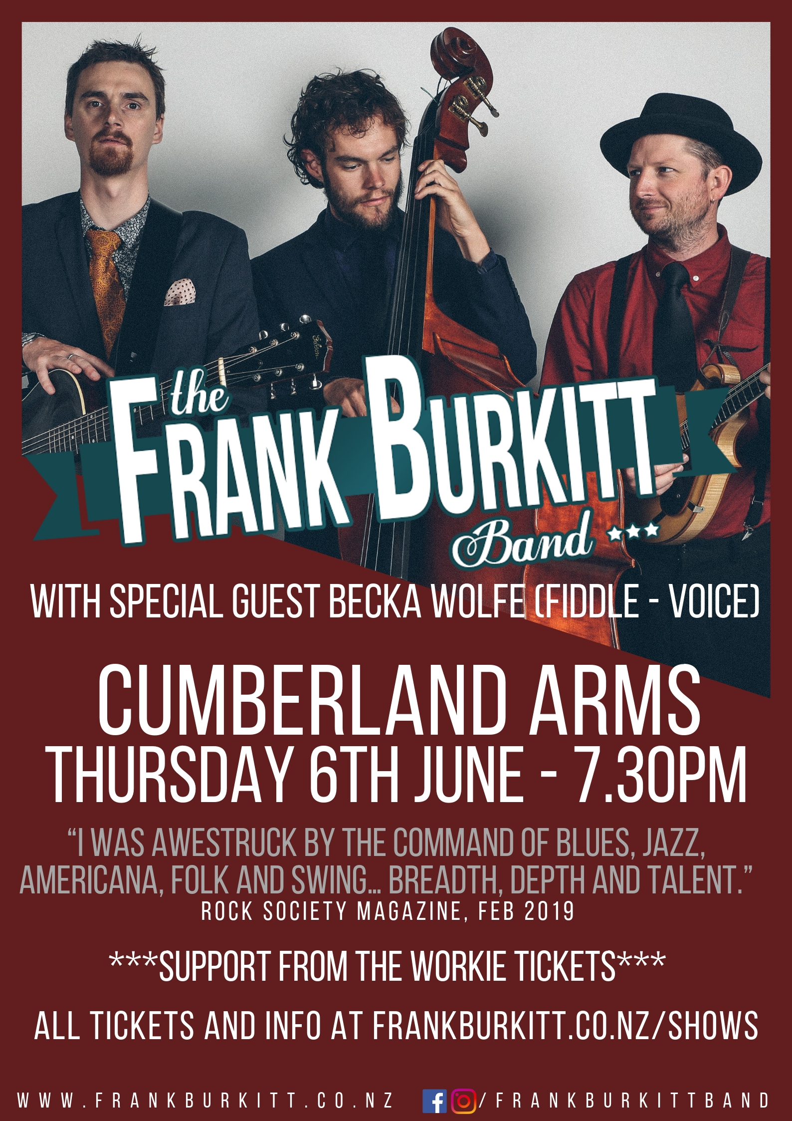 FBB Cumberland Arms Venue Poster 2019
